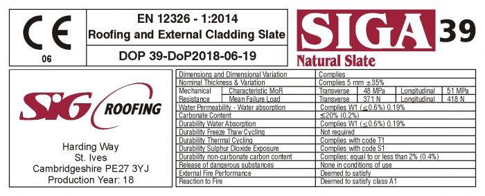 SIGA Natural Slate Crate Label
