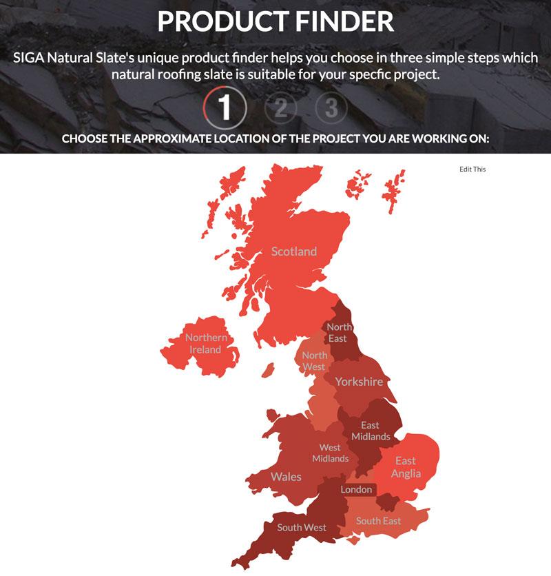 SIGA New Website - Product Finder