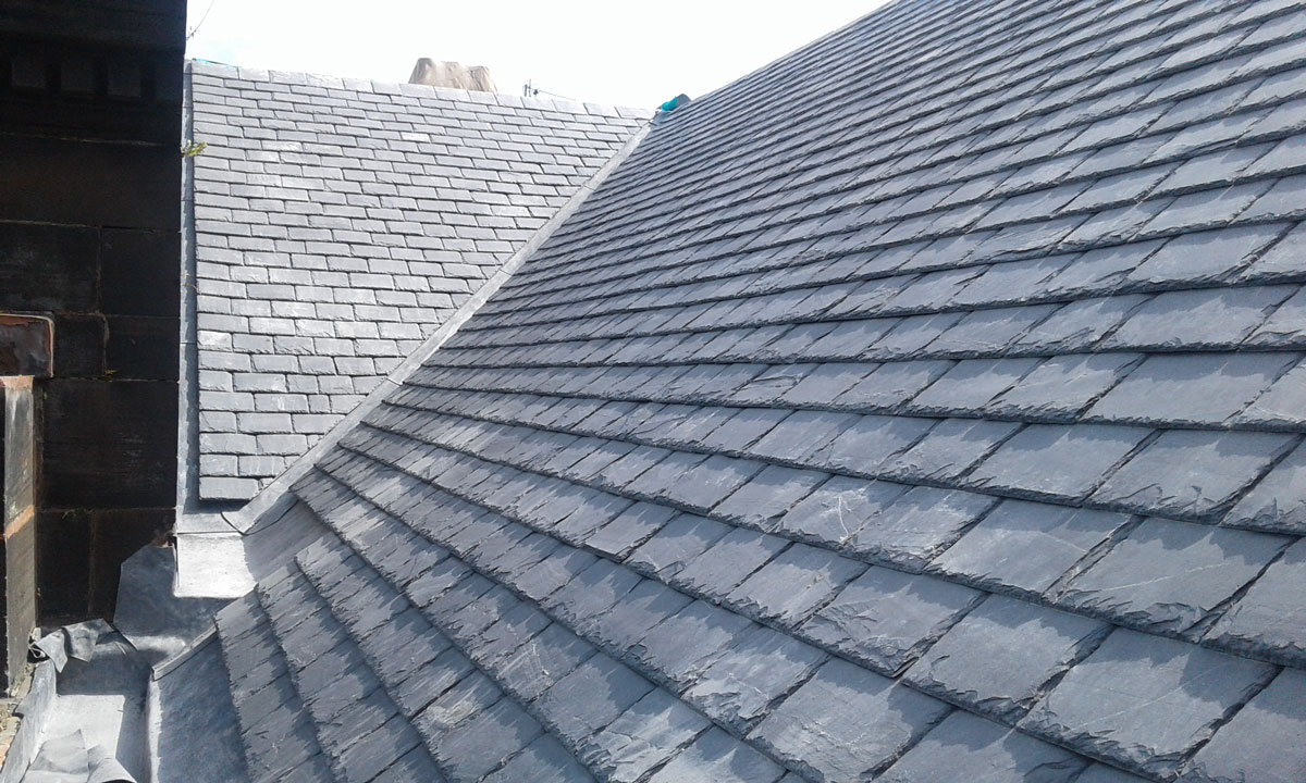 Scottish slate alternative SIGA 120 on Glasgow Kelvin College