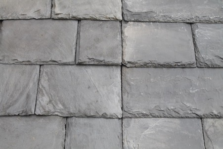 Scottish slate alternative SIGA 120 (right) with reclaimed Scottish slate (left)