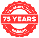 SIGA Slate 75 Year Warranty - Natural Slate Saves Contractor Time